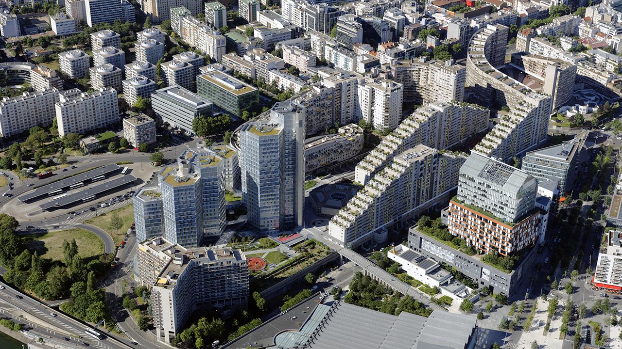 Vue aérienne du quartier du Pont de Sèvres