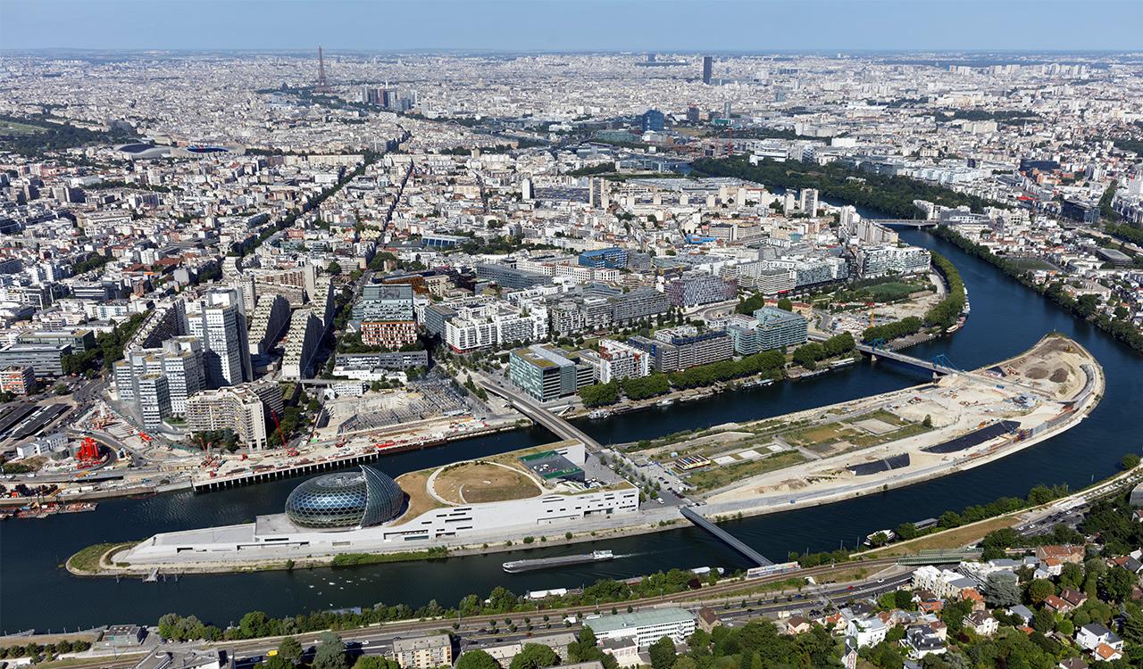 Vue aérienne ZAC  Seguin Rives de Seine Boulogne-Billancourt