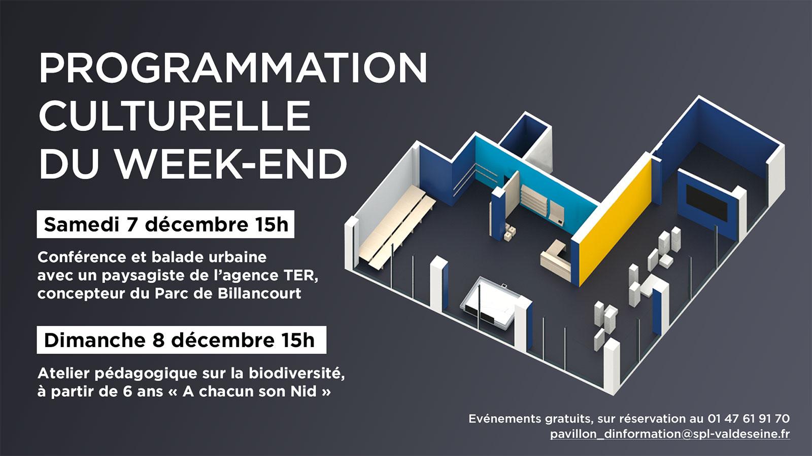 Programmation Pavillon des Projets Boulogne-Billancourt Décembre 2019
